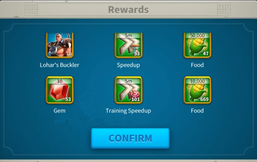 Lohar rewards Rise of kingdoms 1