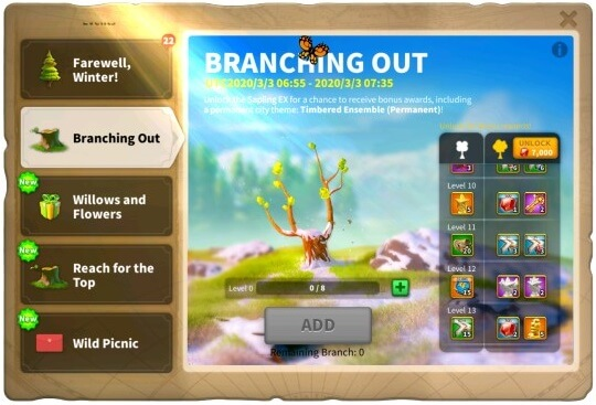 Rise Of Kingdoms Branching Out Event