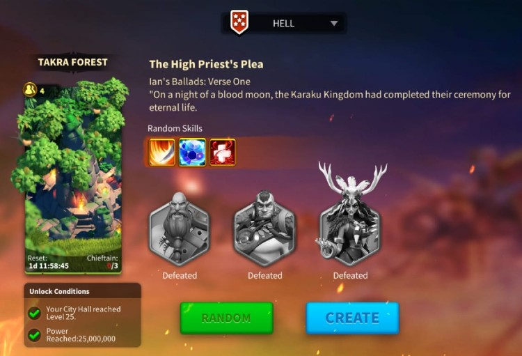 Rise Of Kingdoms Ians Ballads All bosses 1 1