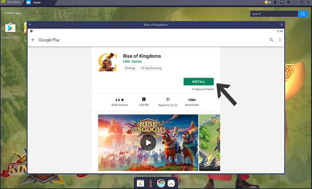 install Rise of Kingdoms via Google Play