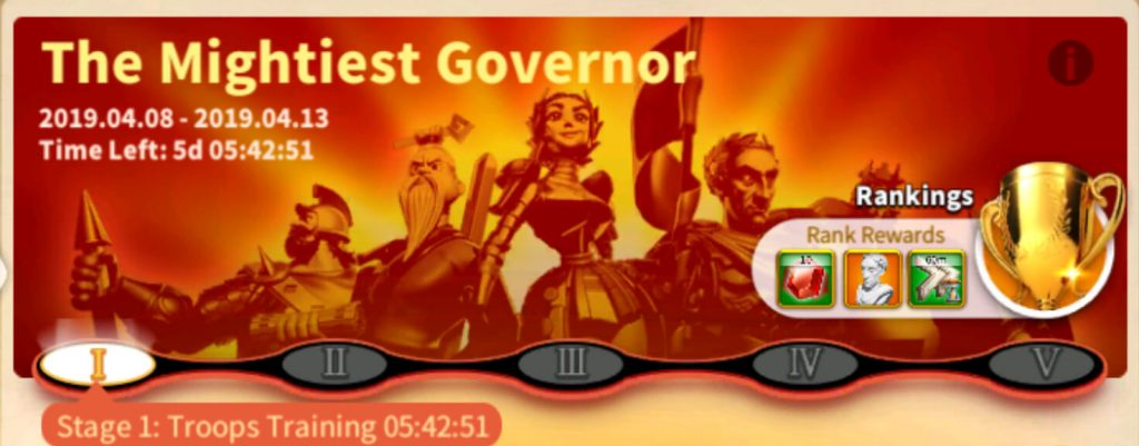 the mightiest governor event
