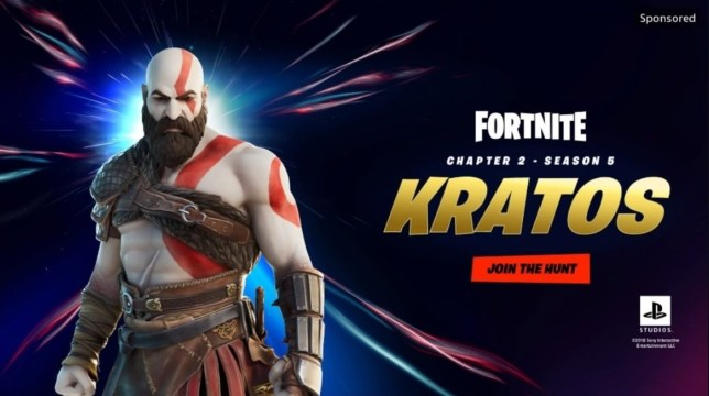 Kratos from God Of War in Fortnite