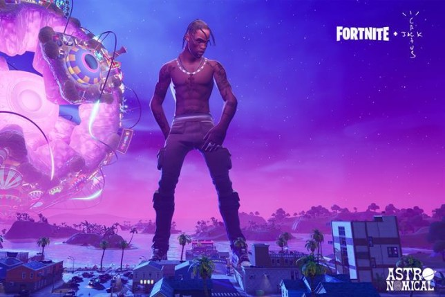 Travis Scott concert in Fortnite