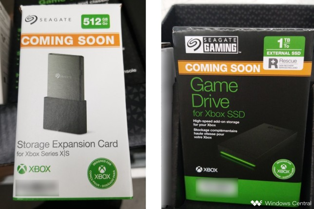 Xbox Series X expansion card promotional material